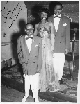 Photograph of three performers on stage at Slim Jenkins nightclub Oakland, California