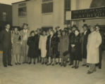 George W. Lee and Blair T. Hunt pose with a group