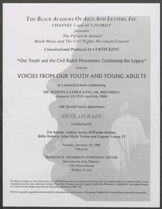Program: Voices from Our Youth and Young Adults