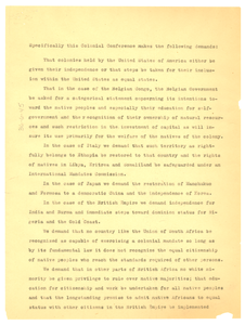 Memorandum on the Colonial Conference