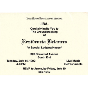 """Residencia Betances """"A special lodging house"""""""