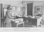 Successful in law practice; A prominent lawyer presenting his case to Judge R.H. Terrell, who is a colored Judge of a Municipal Court in Washington, D.C