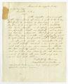 Letter by Macpherson B. Miller, Savannah, Georgia, to Ziba Oakes
