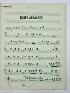 Bernstein, Leonard / TELEVISION - OMNIBUS JAZZ SHOW 1955 (ARR. Bernstein), Trombone PART used by Bernstein, Leonard.