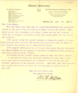 Letter from W. E. B. Du Bois to Professor Peques