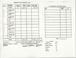Charleston Branch of the NAACP Funds Transmittal Forms, August 1992, Page 1