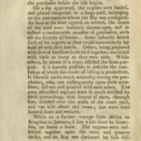 Account of the slave trade on the coast of Africa by Alexander Falconbridge. London : Printed by J. Phillips, 1788. Page 034-035