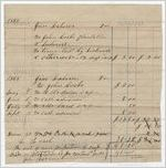 Statement of account of laborer, Jim, 1868