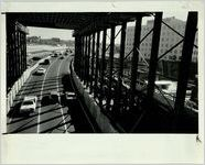 Traffic During Construction on Downtown Connector, December 1, 1986