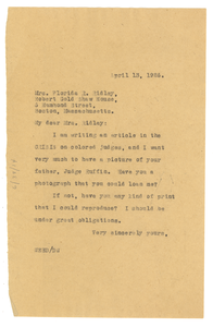 Letter from W. E. B. Du Bois to Florida R. Ridley