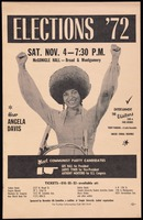 Thumbnail for Poster. Election '72. Hear Angela Davis