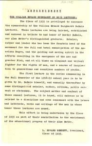 William Edward Burghardt Du Bois lectures