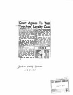 Arkansas Incidents - Newspaper Clippings Etc.