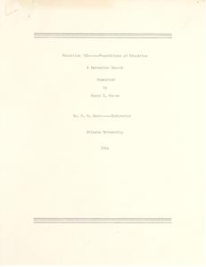 Student family histories: Moore, Susie Sherman (Dennard, Davis, Tyler)