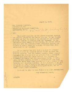 Letter from W. E. B. Du Bois to Everett Saunders