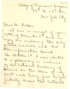 Letter from Harry E. Pelham to W. E. B. Du Bois