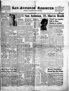 San Antonio Register (San Antonio, Tex.), Vol. 35, No. 21, Ed. 1 Friday, July 22, 1966 San Antonio Register