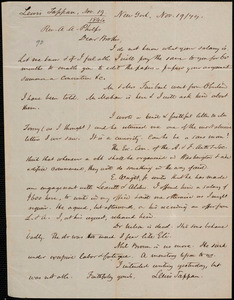 Letter from Lewis Tappan, New York, to Amos Augustus Phelps, 1844 November 19