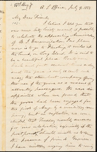 Letter from Oliver Johnson, A.S. Office, [New York], to Samuel May, 1853 July 9