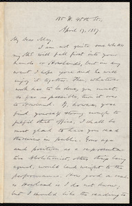 Letter from Oliver Johnson, [New York], to Samuel May, April 17, 1887