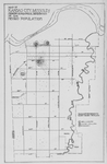 Map of Kansas City, Missouri; Showing geographical distribution on Negro Population