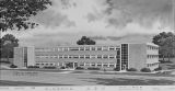 Drawing of the science building at Alabama A & M College in Normal, Alabama.