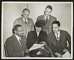Mrs. Eleanor Roosevelt and Dr. James McClendon, Board members, chart 1947 program with NAACP executive officers