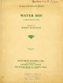 Water boy : a Negro convict song