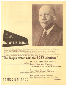 The Negro voter & the elections broadside