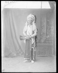 Full length front view of Jack Bull Bear. Oklahoma. U.S. Indian school 1904