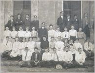 A black and white image of the Massie School Seventh Grade class, 1906 (Principal Gustavus J. Orr)