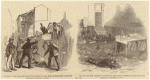 The riot in New Orleans--murdering negroes in the rear of Mechanics' Institute ; Platform in Mechanics' Institute after the riot