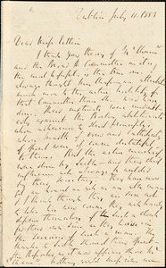 Letter from Richard Davis Webb, Dublin, [Ireland], to Mary Anne Estlin, 1853 July 11