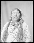 Front view Indian man, Fred Murie. U. S. Indian School 1904