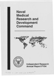 Naval Medical Research and Development Command Independent Research Annual Report FY94
