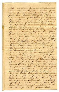 Agreement for E.M. Pease's purchase of slave named Celia