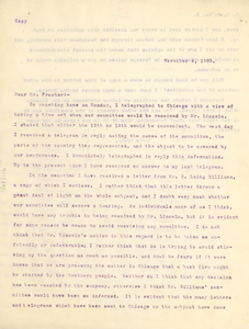 Letter from Booker T. Washington to Henry Hugh Proctor