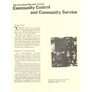 Community control and community service.