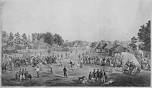 Baseball game between Union prisoners at Salisbury, North Carolina