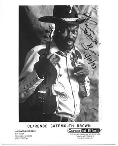 "[Photograph of Clarence ""Gatemouth"" Brown with a Violin]"