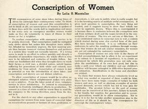 Conscription of women