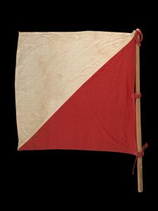 Signal flag with pole
