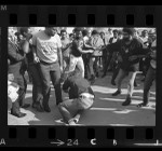 Confrontation between African American and white students at San Fernando Valley State College, 1969