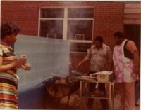 Joe Wynn and Jenny Smith Cookout at YMCA with Leonard Smith and Sylvia Clement
