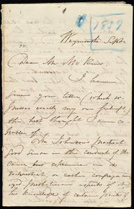Letter from Maria Weston Chapman, Weymouth, [Mass.], to James Miller M'Kim, Sept. [1859]