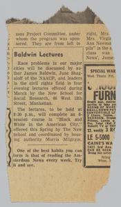 """Baldwin Lectures"""