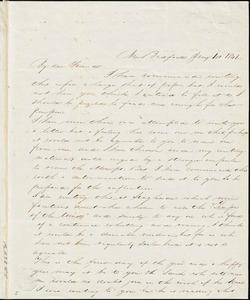 Letter, New Bedford, [Massachusetts], to Deborah Weston, 1841 Jan[uary] 1