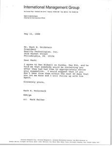Letter from Mark H. McCormack to Mark H. Goldstein