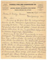 Letter from Charles P. Carpenter in Florala, Alabama, to Governor Thomas Kilby in Montgomery, Alabama.