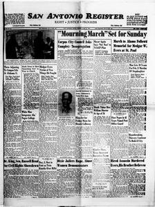 San Antonio Register (San Antonio, Tex.), Vol. 33, No. 16, Ed. 1 Friday, June 21, 1963 San Antonio Register